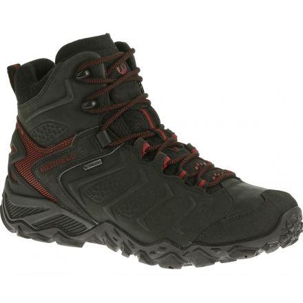 Merrell Chameleon Shift Mid GTX Hiking Boot - Mens-Black Red-Medium- 2a9dda618