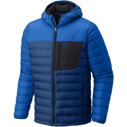 Mountain Hardwear Dynotherm Hooded Down Jacket - Men's-Nightfall Blue-Small
