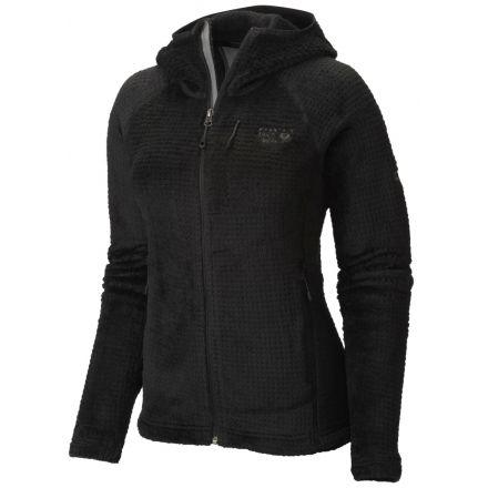 Mountain Hardwear Monkey Woman Grid II Hooded Jacket - Womens-Black-Large