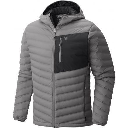 Mountain Hardwear StretchDown Hooded Jacket - Men's-Manta Grey-X-Large