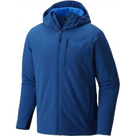 Mountain Hardwear Super Conductor Hooded Jacket - Men's-Nightfall Blue-Large