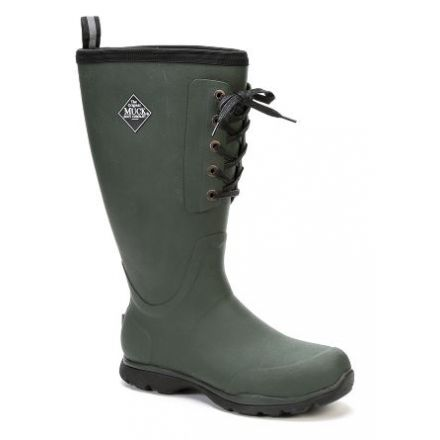 a997f9908993d Muck Boots Arctic Excursion Lace Tall Rubber Boot - Mens-Green-Medium-9