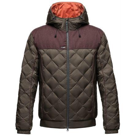 Nobis Elle Quilted Hooded Jacket - Womens -Dark Brown/Heathered  Burgundy-Large