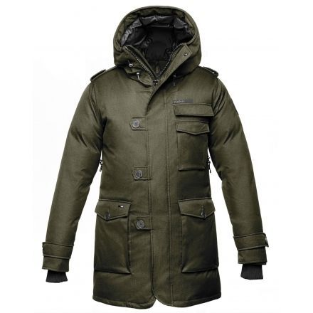 Nobis Shelby Military Parka - Mens -Crosshatch Army Green-Medium