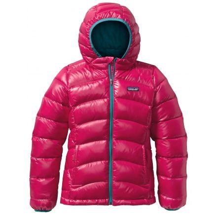 Patagonia Hi Loft Down Sweater Hoody Girls Campsaver
