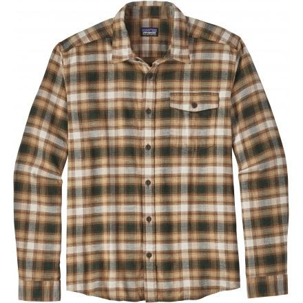 ee858ee3145 Patagonia Long Sleeve Lightweight Fjord Flannel Shirt - Men s -Revival Bear  Brown-X