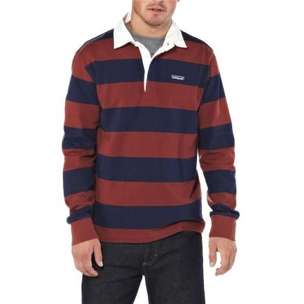 8ed4b4fe698a Patagonia Long Sleeve Sender Rugby Shirt - Men's-Im Game/Rusted Iron-Small