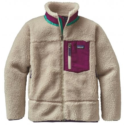 7b1be8da0 Patagonia Retro-X Jacket - Girl's-Natural/Violet Red-Medium