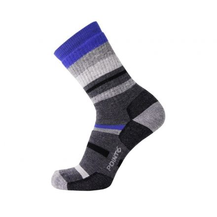 73a14836a Point 6 Hiking Mixed Stripe Medium Crew Socks - Men's — CampSaver