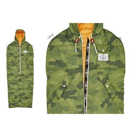 Poler Napsack 50 Wearable Sleeping Bag Synthetic Camo Medium