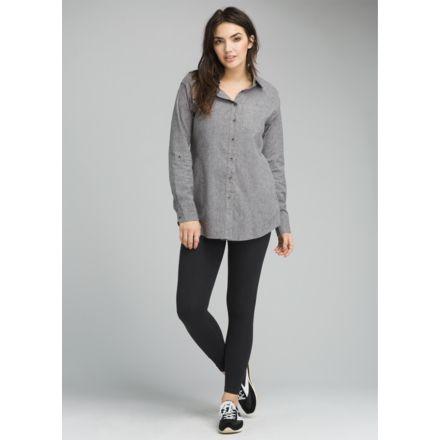 0a74dcff prAna Aster Tunic Casual Shirt - Women's, Gravel, Large, W23180502-GRA-