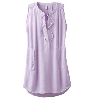 f5af4fc8a63 prAna Natassa Crinkled Tunic, Bleached Lavender, XSmall, W11190801 -534-XS