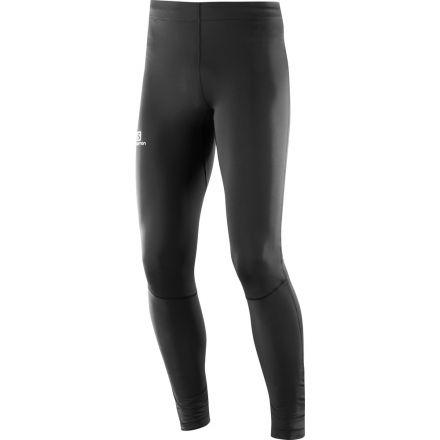 Sporting Goods Black Salomon Agile Mens Long Running Tights Activewear Bottoms
