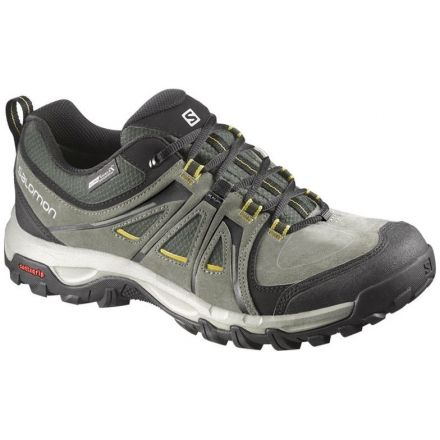 Salomon Evasion CS WP Hiking Shoe - Men's-Tempest/Forest/Ray-Medium