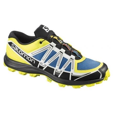 56d5fccd5caa Salomon Fellraiser Trail Running Shoe - Men s-Blue Yellow-Medium-10 US