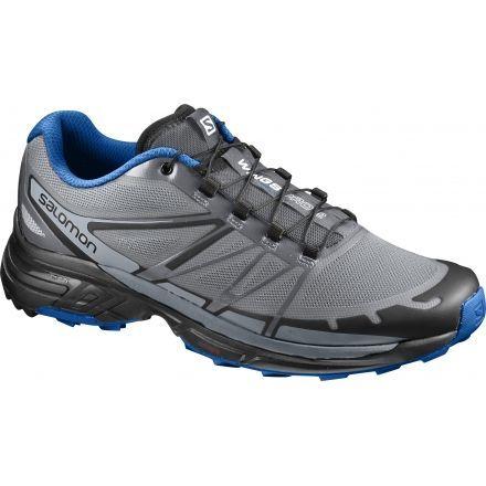 official photos 9ecb2 09275 Salomon Mens Wings Pro 2 Trail Running Shoe, Monument Black Nautical Blue,