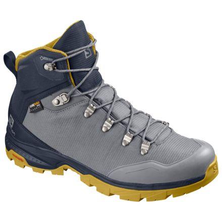d3d50c79cb2 Salomon OUTback 500 GTX Backpacking Boot - Mens, Quiet Shade/Navy  Blazer/Green