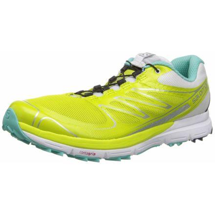 online retailer ed2ab d4ca1 Salomon Sense Pro Trail Running Shoe - Womens, Gecko Green White Softy Blue