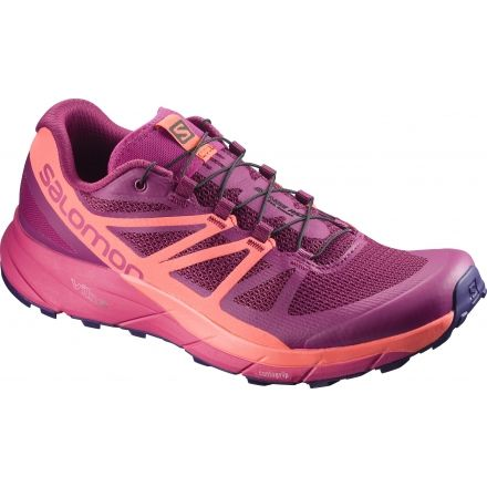 Salomon SENSE RIDE - Trail running shoes - sangria/living coral/virtual pink w9c4GpaC