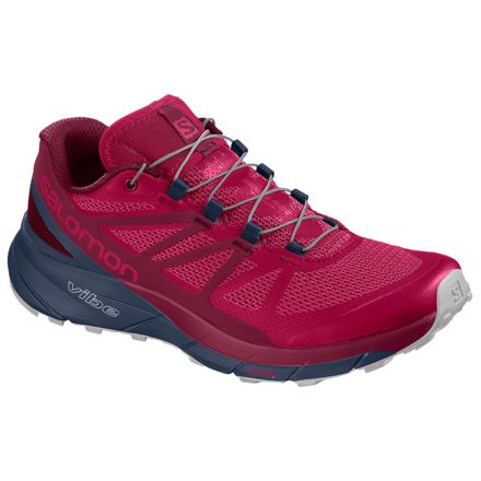 low priced 49857 d3c81 Salomon Sense Ride Trailrunning Shoe - Womens, Cerise Navy Blazer Vapor  Blue,