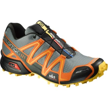 Speedcross 3 CS Trail Running Shoe - Mens-Light Titanium/Clem-7.5