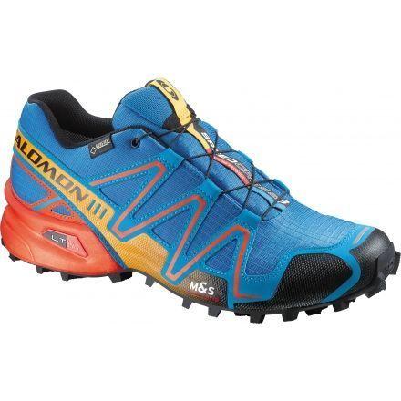 Salomon Speedcross 3 GTX Trail Running Shoe - Men s-Blue Red Yego- 2c3a5955dec