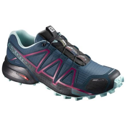 Salomon Speedcross 4 CS Trail Running Shoe, Slateblue/Cosmic, 10.5,  L38309400-