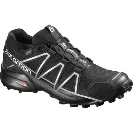 Salomon Speedcross 4 GTX Trail Running Shoe - Men's-Black/Black/Silver-