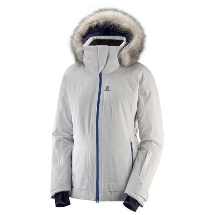938dd014fbda4 Salomon Weekend+ Jacket - Womens, Vapor Heather, Extra Small, L40434500-XS