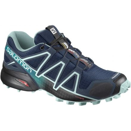 quality design c8bd9 b92fd Salomon Womens Speedcross 4 Trailrunning Shoes, Poseidon Eggshell Blue Black,  5 US