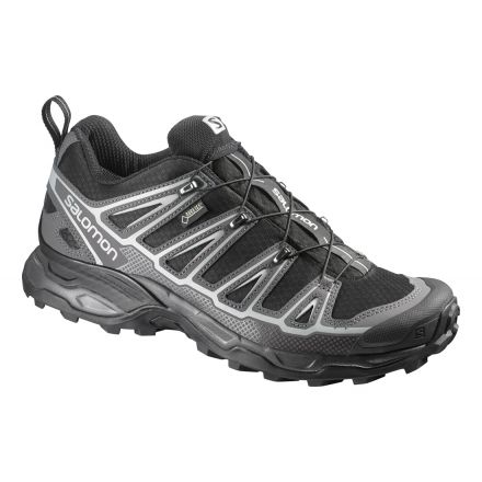Salomon X Ultra 2 GTX Hiking Shoe - Mens-Black/Autobahn/Aluminum-