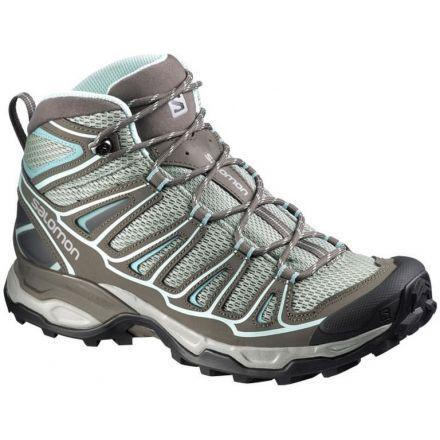 Salomon X Ultra Mid Aero Hiking Boot - Women s-Titanium Swamp Blue- b67e0e83109d