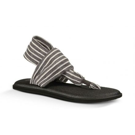 ee4431a67cfc Sanuk Yoga Sling 2 Print Sandal - Women s-Charcoal Natural Stripes-Medium-