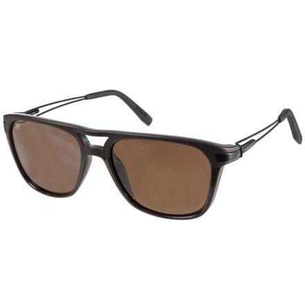 fb2ed2a8a1ca Serengeti Empoli Sunglasses, Touring Shiny/Matte Brown Frame, Polarized  Drivers 7917