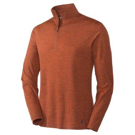 cc9cf6f29084 Smartwool Lightweight Zip T Long Sleeve - Men's-Sienna Heather-Large