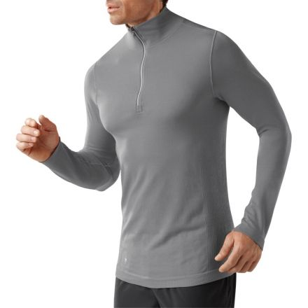 4a769774dc3013 Smartwool PhD Run Long Sleeve Half Zip - Men's-Alloy-Large