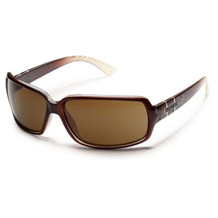 ecdb67d83389b Suncloud Polarized Optics Poptown Sunglasses - Brown Stripe Laser Frame and  Brown Polarized Polycarbonate Lens S