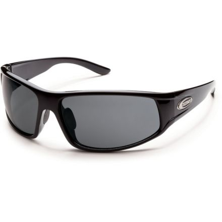75b2bfd7ef Suncloud Polarized Optics Warrant Sunglasses - Black Frame and Gray  Polarized Polycarbonate Lens S-WAPPGYBK