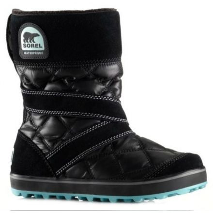 6ace0349b2c8 Sorel Glacy Slip On Winter Boot - Women s-Black-Medium-7 US