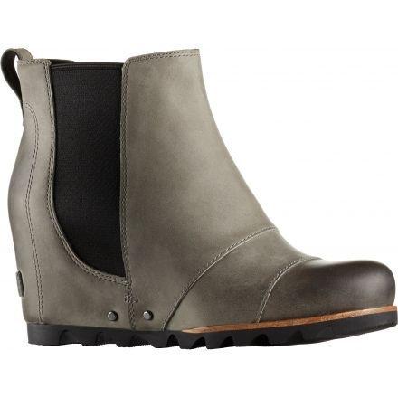 37b4d8e7ab7 Sorel Lea Wedge 2 Casual Boot - Women s-Dark Grey Black-Medium-