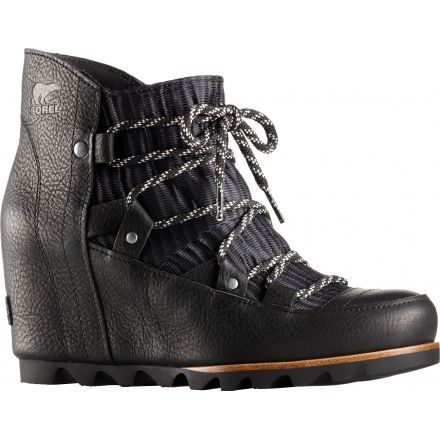 ad33e707b349 Sorel Sandy Wedge Casual Boot - Women s-Black-Medium-11