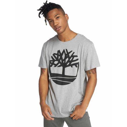 005180707c Timberland Short Sleeve Seasonal Logo Tee - Mens, Medium Grey Heather Tree,  Large,