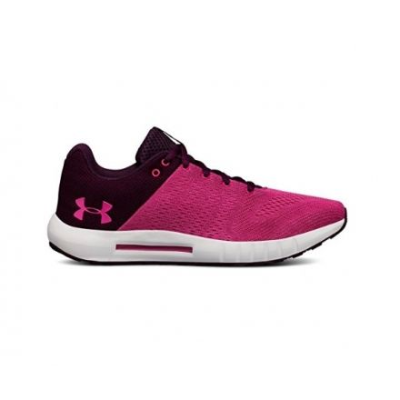 buy popular d25ec 8f4b7 Under Armour Micro G Pursuit Road Running Shoe Merlot Elemental Tropic Pink  6 US