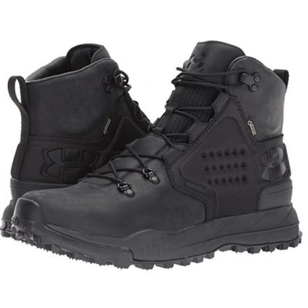 on sale 9e40b 4aa10 Under Armour Newell Ridge Mid GTX Leather Hiking Shoe - Men s-Black Black