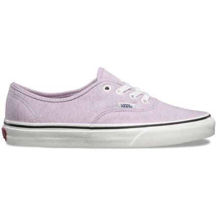 194c29931a Vans Jersey Authentic Shoes - Womens, Lavender Fog/Snow White, 9.5 US,