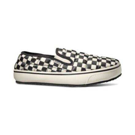 2553bb2aa0 Vans Slip-Er Slippers, Checkerboard/Marshmallow, Mens XSmall, Womens XSmall,