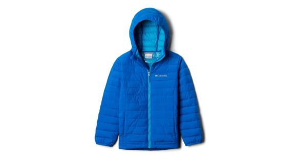 Powder Lite Small Blue Collegiate Navy Columbia Boys Hooded Jacket