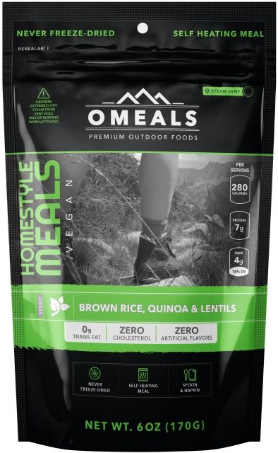 photo: OMeals Brown Rice, Quinoa & Lentils