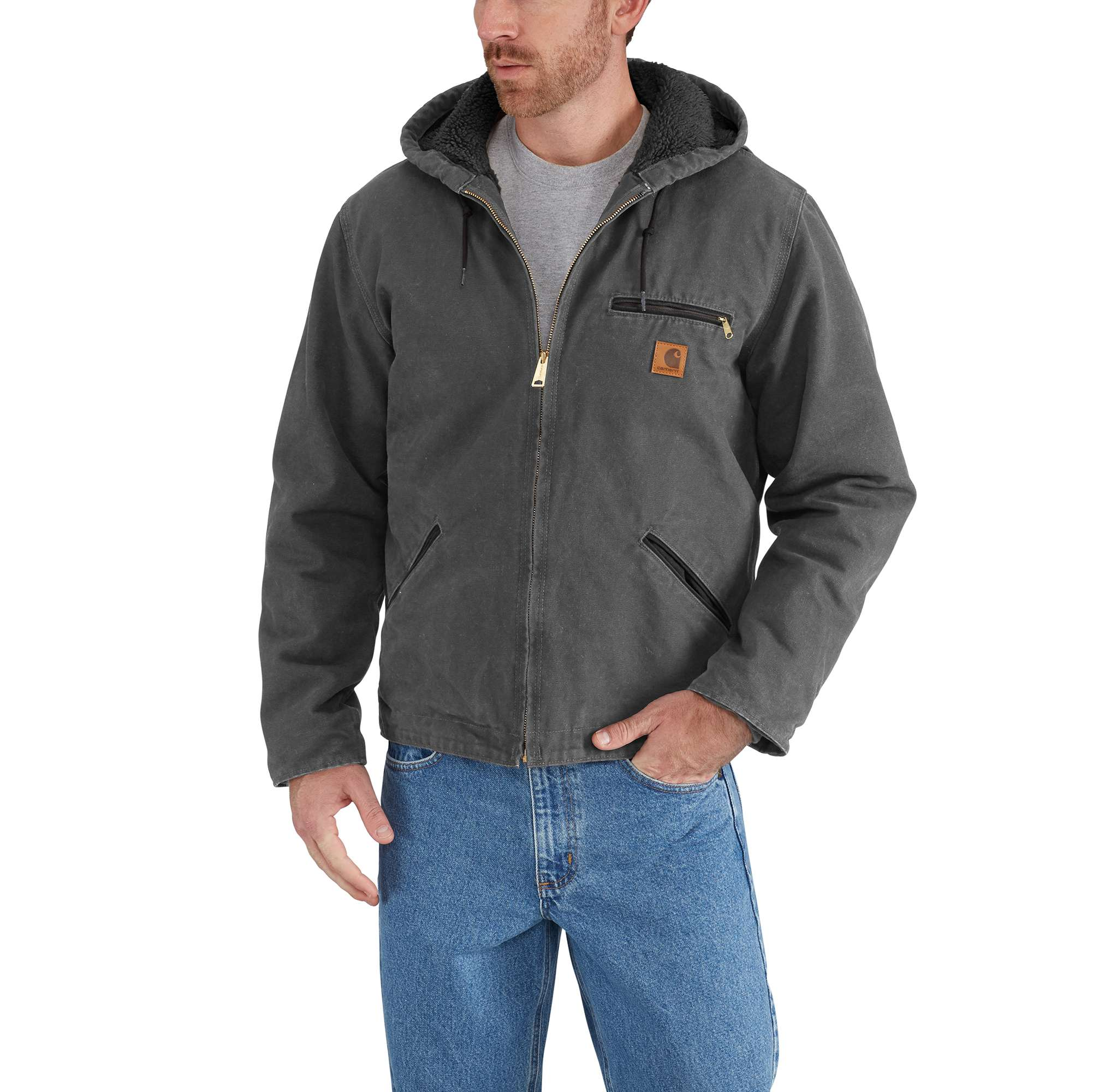 3298bb6140a Carhartt Sherpa Lined Sandstone Sierra Jacket - Mens with Free S H —  CampSaver