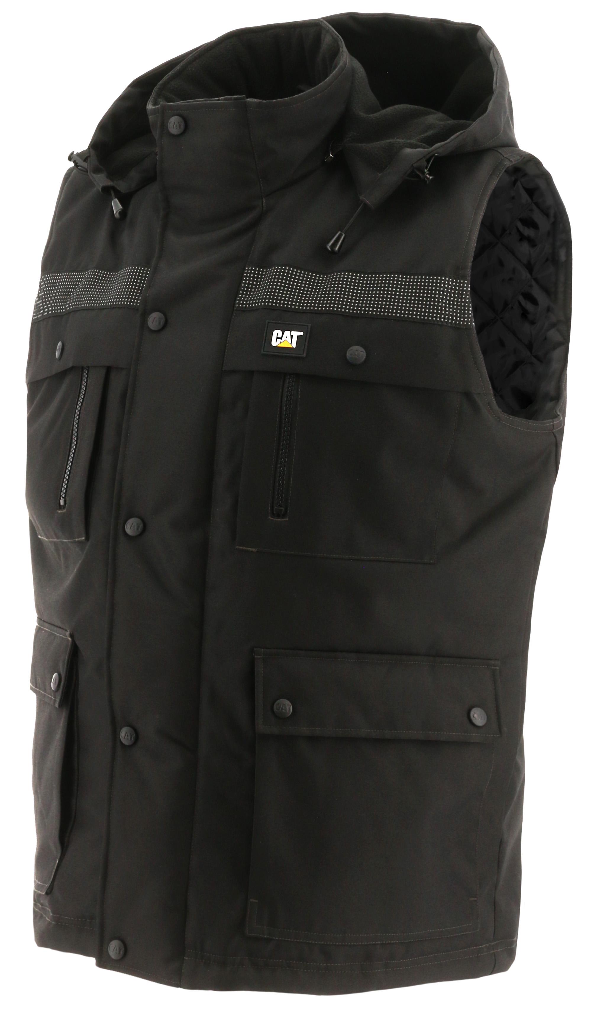 CAT Caterpillar Defender Insulated Jacket Mens Water Resistant Quilted Work Coat